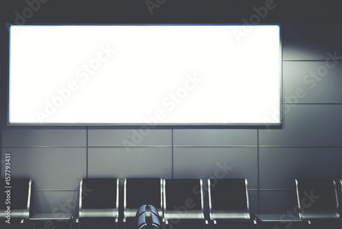 Blank billboard with clean space for publicity content or