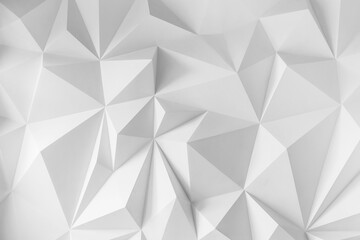Abstract background of polygons on white background.