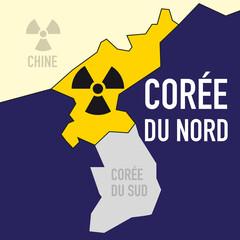 nucléaire - Corée du Nord - puissance - bombe atomique - carte