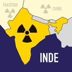 nucléaire - Inde - puissance - bombe atomique - carte - guerre