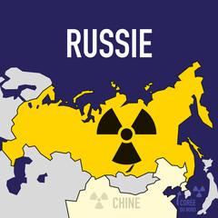 nucléaire - Russie - puissance - bombe atomique - carte - guerre