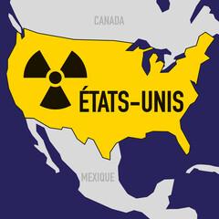 nucléaire - USA - État Unis - puissance - bombe atomique - carte - guerre