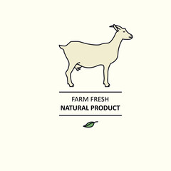 Farm fresh Natural product Line animals set Goat