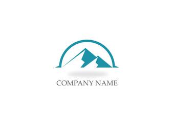 mountain icon vector logo