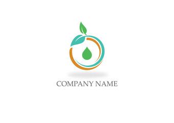 organic bio leaf nature logo