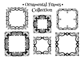 Abstract decorative ornamental frames