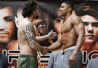 Anthony Joshua & Rafael Zumbano Love Weigh-In