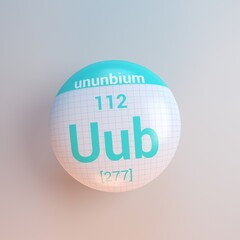 Search photos uub 3d rendering periodic table icon ununbium urtaz Choice Image