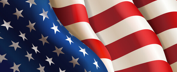 Flag United States of America. Vector