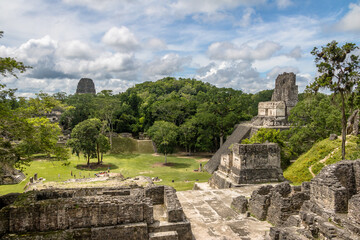 Mayan Temple II at Tikal National Park - Guatemala