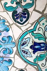 Painted Tile Mosaic