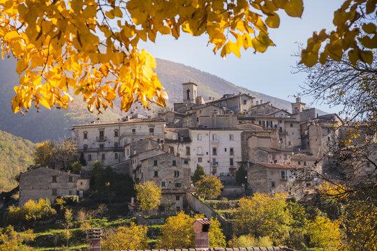 The historic village of Scanno in autumn - Abruzzo - Italy