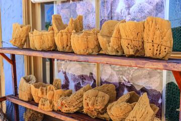 Natural sponges on sale in Tarpon Springs, Florida