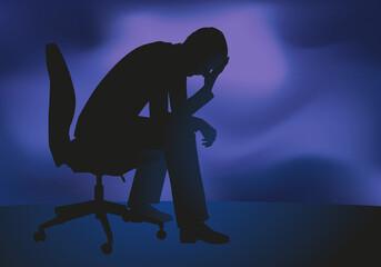 dépression - stress - burout - désespoir - déprime - entreprise - chômage