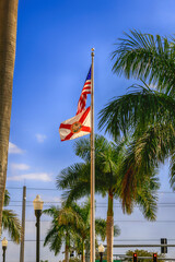 The American and Florida State flag