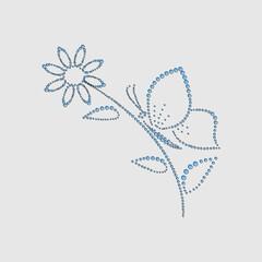 Butterfly on flower2