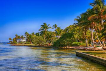 View of the coastline of Pine Island at Bokeelia in SW Florida