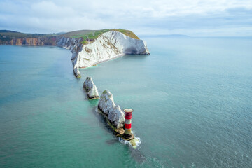 The Needles and Lighthouse, Isle of Wight Wall mural
