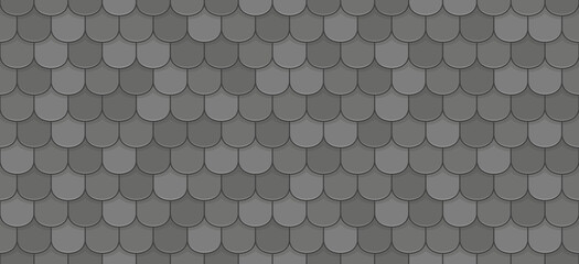 Black roof tiles seamless pattern