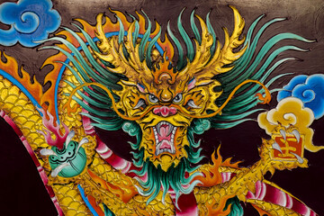 Dragon Painting about the religious beliefs of the Chinese shrine.