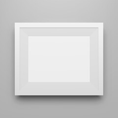 Blank white modern Picture Frame Mockup