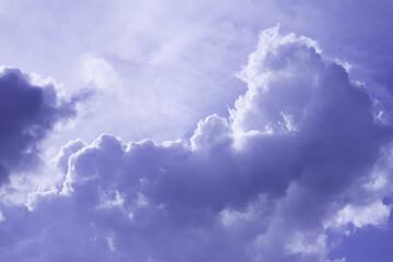 clouds in blue sky in summer day