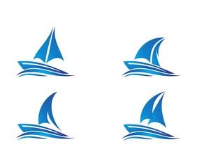 sail boat logo , boat logo design