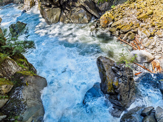 Mountain river with wild rapids, Coquihalla Canyon Provincial Park