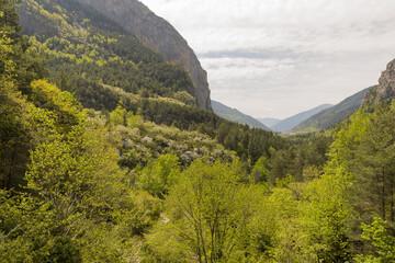 Hiking in torla ordesa, pyrenees of huesca