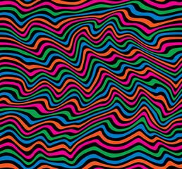 Op Art Stripes Pattern in primary colors