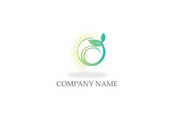 seed sprout plant nature logo