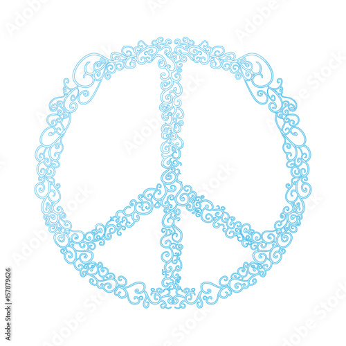 Peace And Love Symbol Icon Vector Illustration Graphic Design Stock