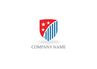 shield protect america flag logo