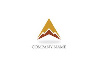 triangle mountain vector logo