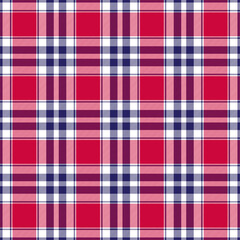 red white blue big plaid