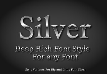 Chrome Text Style Set 3