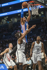 NBA: Preseason-Philadelphia 76ers at Brooklyn Nets