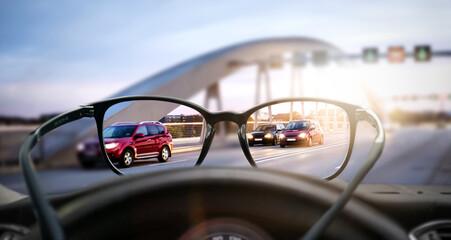 Sehhilfe (Brille) im Straßenverkehr
