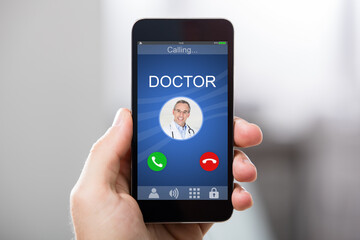 Doctor's Incoming Call On Smartphone
