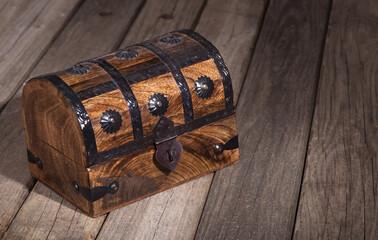 Wood Treasure Chest