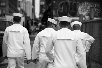 A group of seaman recruit walking in New York City