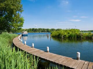 Water recreation at Lake Brielse Meer, Netherlands