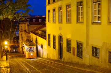 Night Lisbon street, Portugal