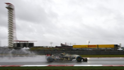 Lotus Formula One driver Pastor Maldonado of Venezuela drives during the final free practice session of the United States Grand Prix in Austin, Texas