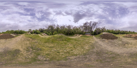 360 degrees panorama of a bicycle track in Plovdiv, Bulgaria