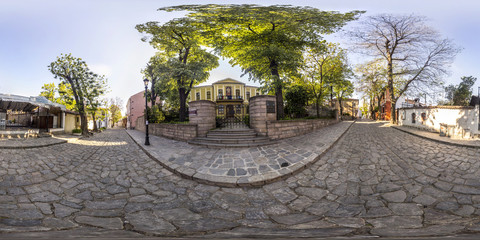 360 degrees panorama of the House-Museum Zlatyu Boyadzhiev in Plovdiv, Bulgaria