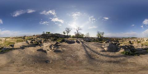 360 degrees panorama of Nebet tepe in Plovdiv, Bulgaria