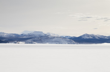 Winter, Yellowstone Lake