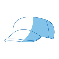 cartoon baseball cap accessory clothes vector illustration
