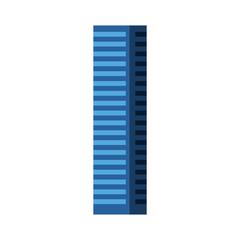 Blue tall building cartoon vector graphic design